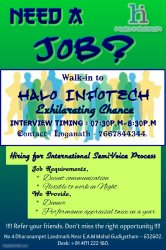 Halo Infotech  Now Hiring for Customer Support Executives
