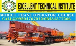 Mobile crane tower crane operating course in delhi bangalore